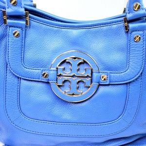 Tory Burch Bags - TORY BURCH Amanda Hobo Bag Crossbody Blue Gold